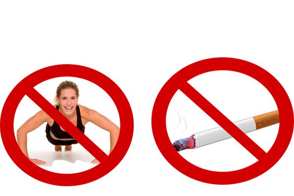 Запрет на курения и тяжелые физические нагрузки перед сдачей анализа на ФСГ