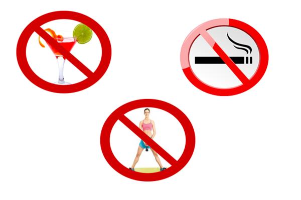 Запрет на прием алкоголя, курение и тяжелые физические нагрузки перед анализом на АМГ