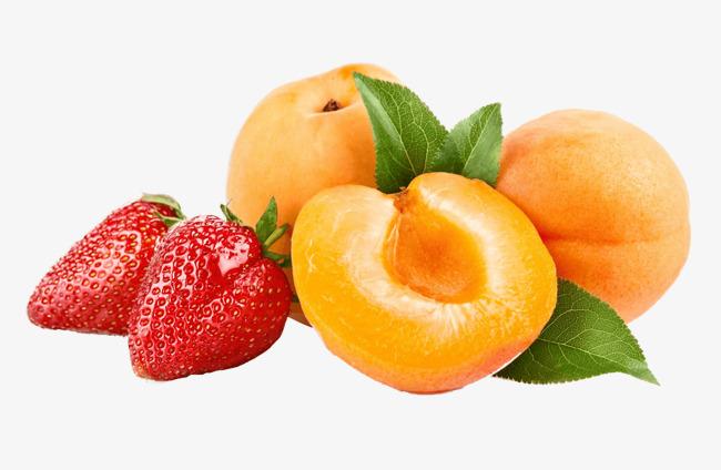 Клубника и персики