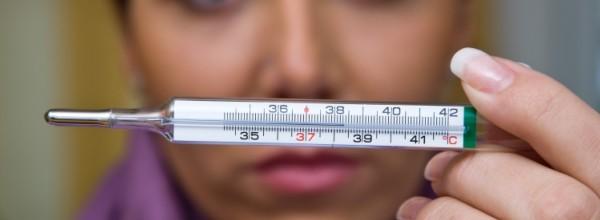 на термометре большие показатели