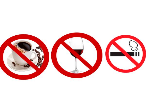 Запрет на употребление спиртного, кофе, курение для осуществления удачной поздней беременности