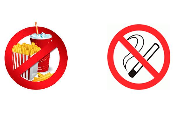 Запрет на фастфуд и курение для устранения астенозооспермии