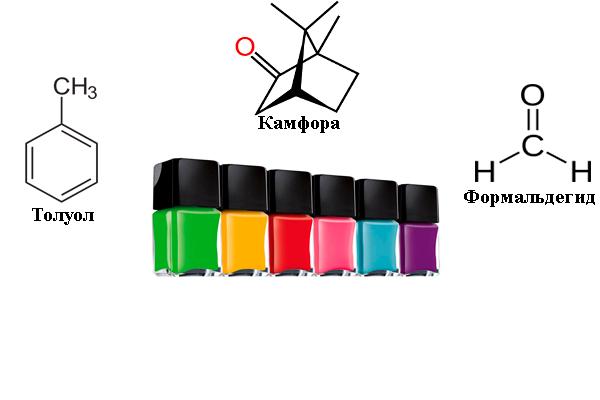 Опасные химические вещества в составе лаков для ногтей