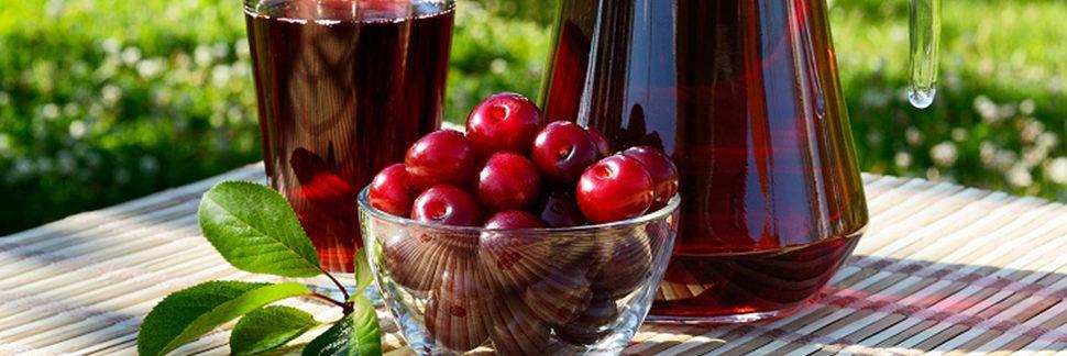 свежевыжатый сок вишни