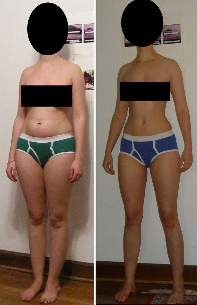 27 фото доказательств, почему объемы важнее веса: тело разное, вес один и тот же