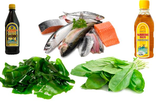 Продукты, содержащие в себе витамин Омега 3