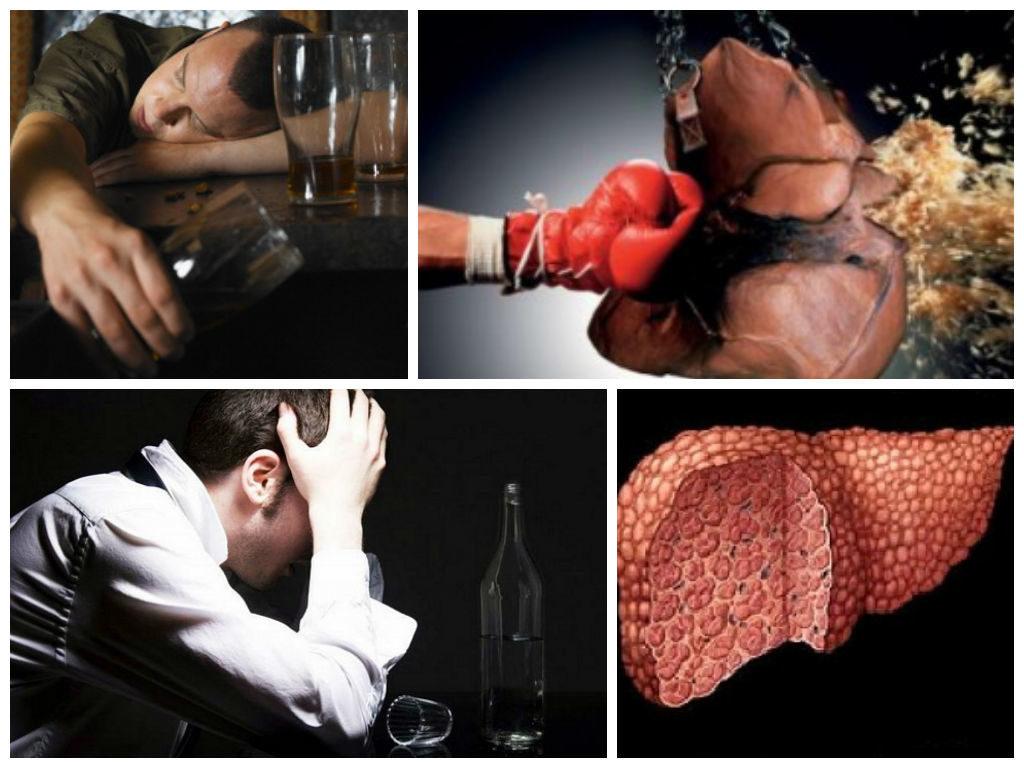 Повреждения печени из-за алкоголя