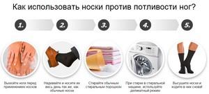 Как правильно использовать носки от потливости