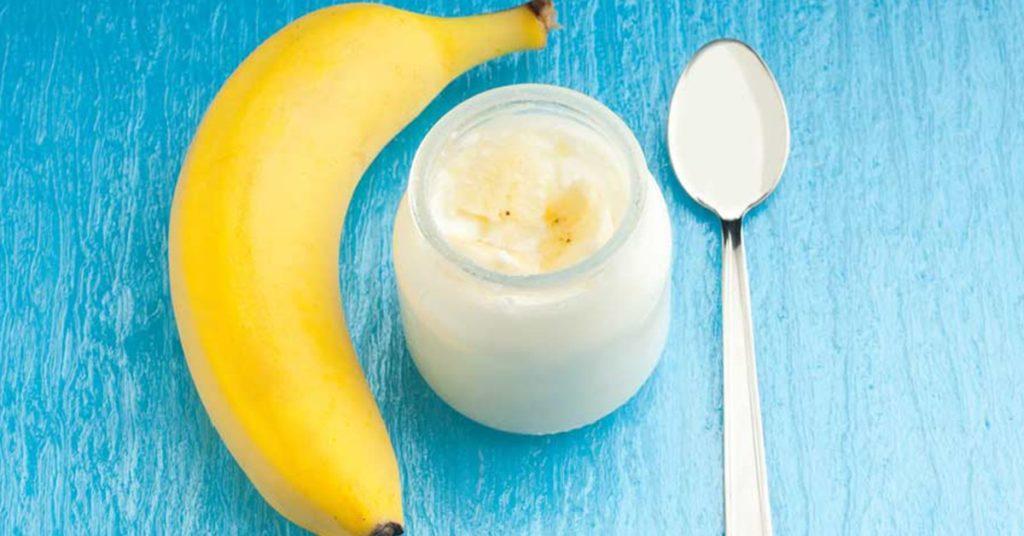 Банан и йогурт